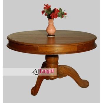 Simple Wooden Teak Wood Round Three Legs Center Table Design Buy