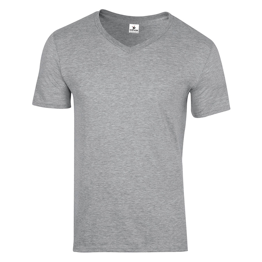 Custom men v neck short sleeve t shirt