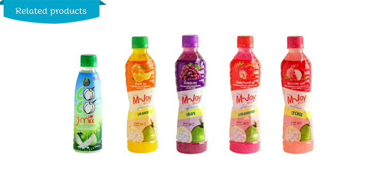 Grape Fruits Juice 25% Concentrate with Nata De Coco 380 ml