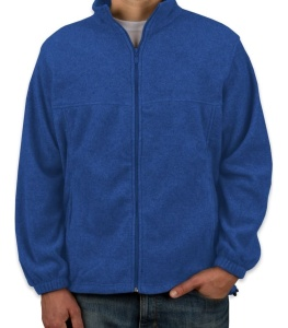 Men's polar fleece jacket with full Zip