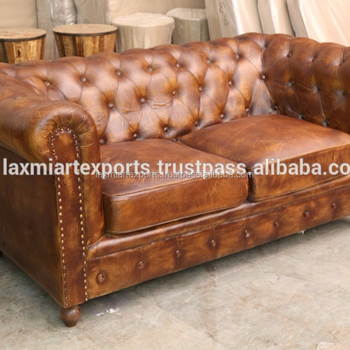 Pure Leather Sofa Chesterfield