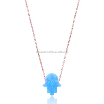 Turkish 925 sterling silver pendant necklace with symbols hamsa opal turkish 925 sterling silver pendant necklace with symbols hamsa opal stone pendant jewellery aloadofball Choice Image