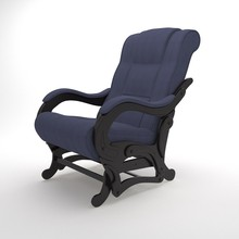 Mewah <span class=keywords><strong>Kursi</strong></span> <span class=keywords><strong>Goyang</strong></span> Model-78 (Denim <span class=keywords><strong>Biru</strong></span>), Living Room Furniture