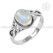Rainbow moonstone 925 silver jewelry sterling factory gemstones silver rings indian weddings silver ring