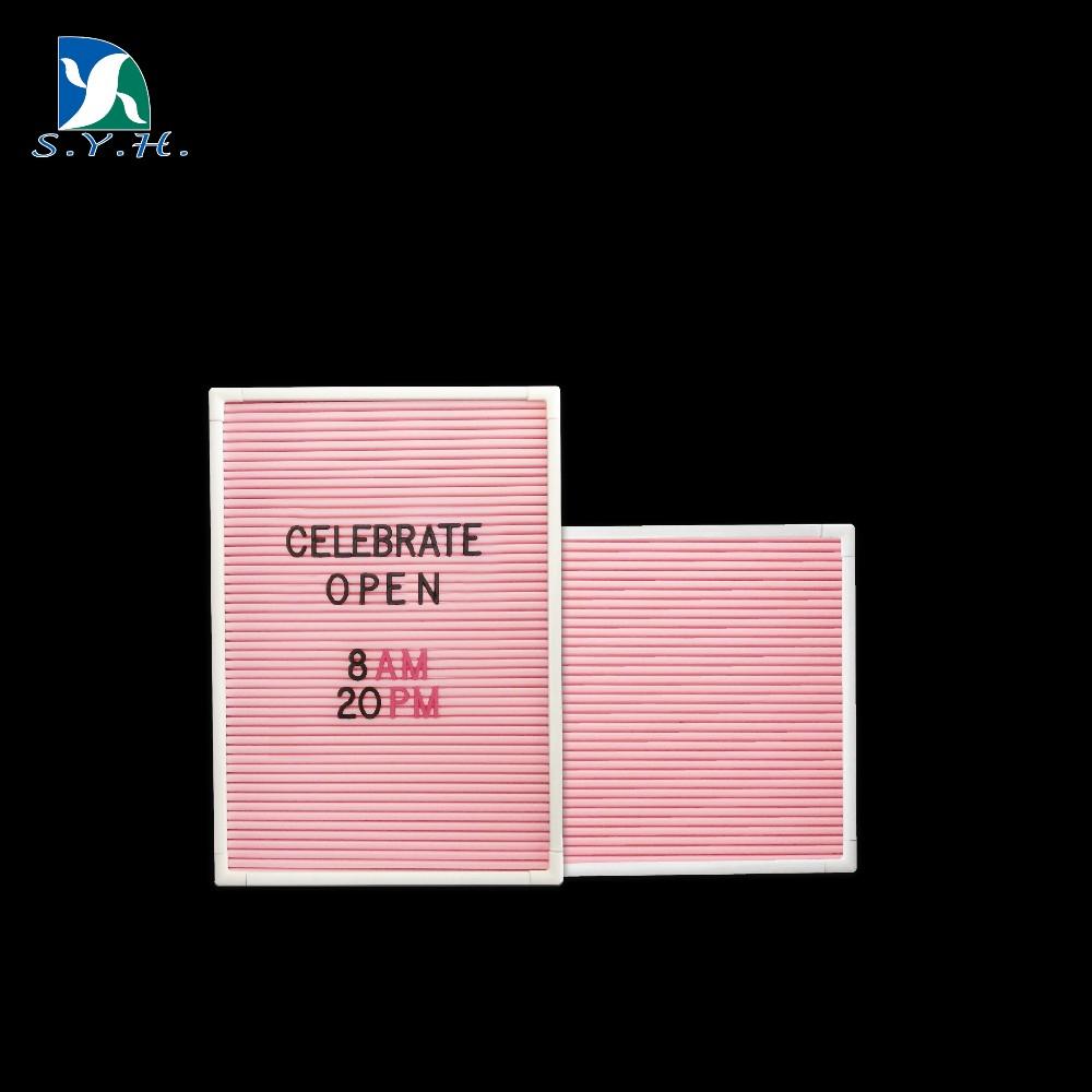 Wedding Favor Gift Pink Felt Letter Board With White Frame Buy