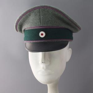 WWII REPLICA WW2 German Army Chaplins Officers Visor Hat Cap Handmade