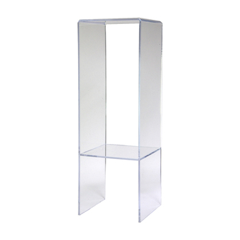 3Pack U Shape Clear Acrylic Display Riser for Jewelry or Shoes