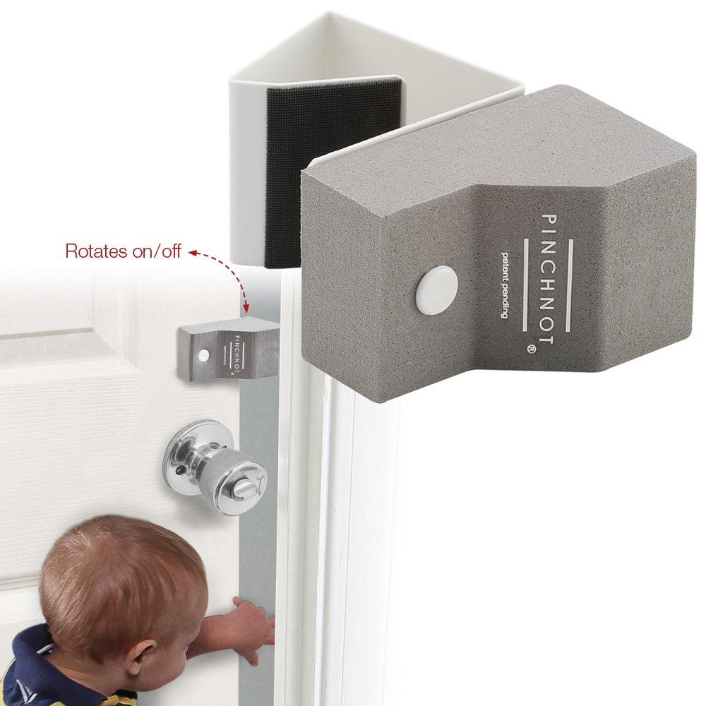 2 Pk Door Finger Safety Guard Slip-on Foam Bumper Stop. Flips On/Off. by PinchNot