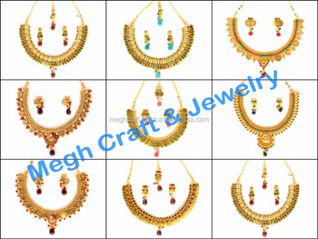 c79eb6ccc Gold necklace-Gold Jewellery-Design Indian fashion jewellery -Laxmi coin  necklace-South