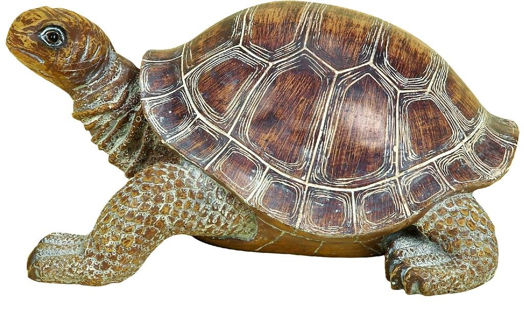 Deco 79 98281 Polystone Decorative Turtle Statue, 15 by 6-Inch