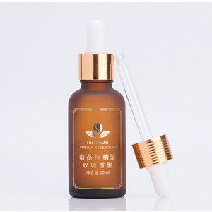 Modern frosted amber silk screen printing 10 20 30 50ml glass dropper argan oil bottle for camellia seed oil