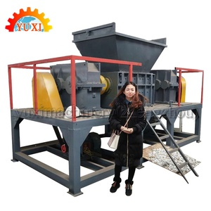 Waste Plastic Used Rubber Tires Recycling Machines Double Shaft Shredder