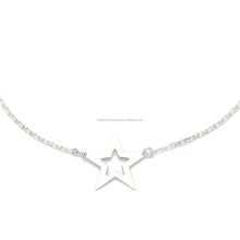 2017 New Designs 925 Sterling 듐 Plated Women Anklet 인기있는 체인 스타 (energy star) 펜 던 트 <span class=keywords><strong>발</strong></span> <span class=keywords><strong>발</strong></span> <span class=keywords><strong>보석</strong></span>