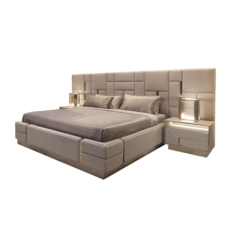 C1808 Luxury Italian Bedroom Set Furniture King Size Modern Italian Latest  Double Bed Designer Furniture Set Leather Luxury Bed - Buy Italian Faux ...