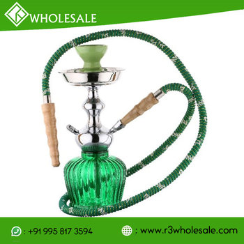 12 Inch Tall Glass Hookah with Metal Plate/AshCatcher and Ceramic Bowl WHOLESALE