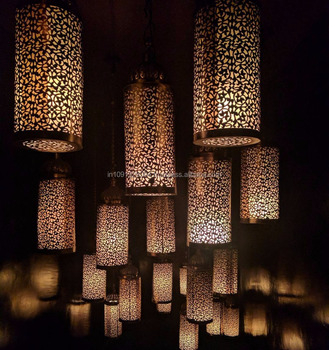 Moroccan Lamps Hanging Table Etched Egyptian Shadow 100 Handmade By H A International Lamp