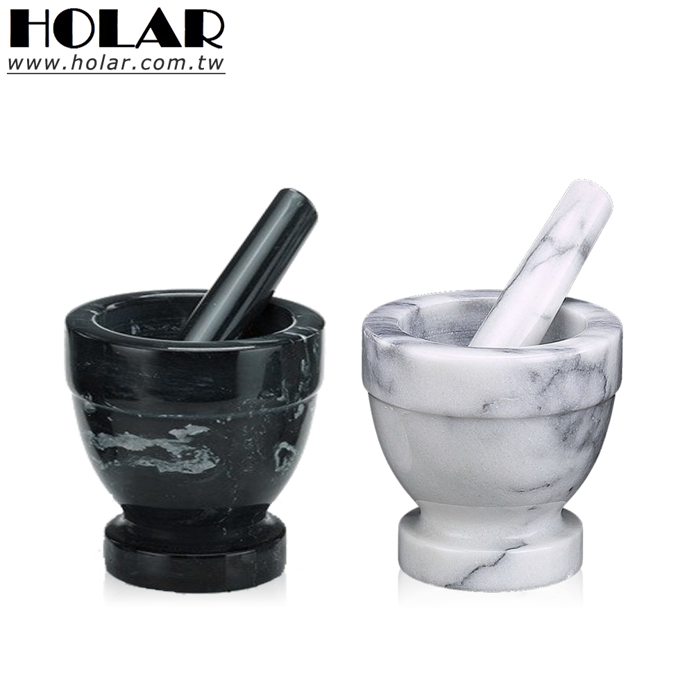 [Holar] 100% Taiwan Made Mini Marble Mortar and Pestle Set for Herb Spices