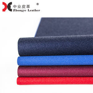Eco friendly TPU Designer Fabric Synthetic Embossed Leather Solvent-free Shiny Glitter Raw Imitation Leather LF-64