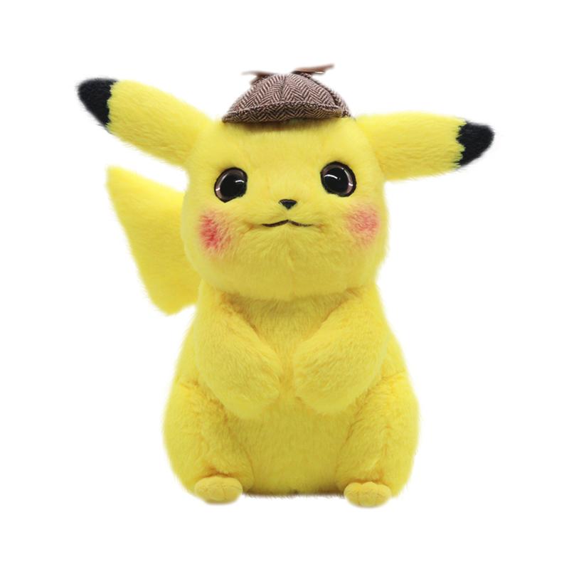 Aixini ใหม่น่ารักตุ๊กตานักสืบ pikachu ของเล่นตุ๊กตาสัตว์ plush pokemon pikachu ของเล่น