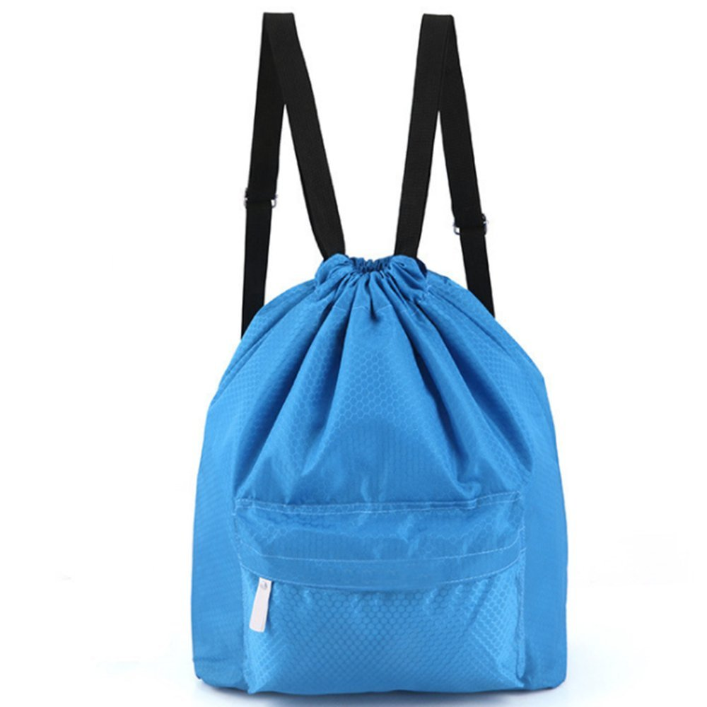 3658282cf7cb Get Quotations · Zmart Dry Wet Separated Swimming Bag Portable Drawstring  Backpack Waterproof Gym Sports Pool Beach Gear Bag