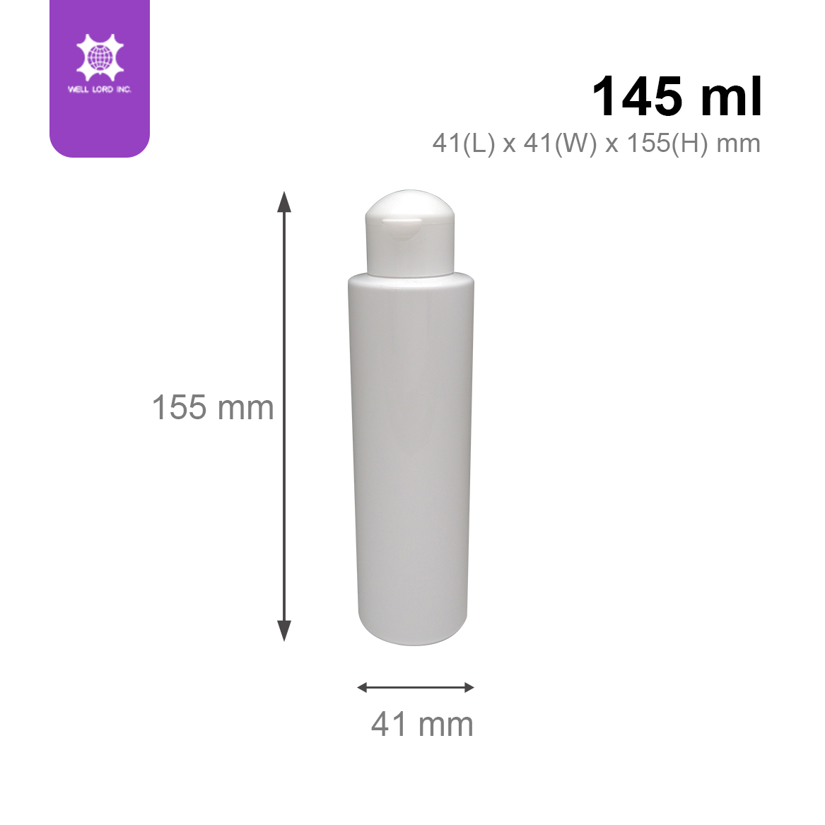 Cheap hot sale mushroom head plastic bottles 145 ml cylinder shape screw cap plastic tube