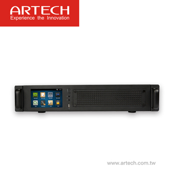 ARTECH AK - Rack mount Multi-line stand-alone voice logger system 8-32lines with 5inch touch screen 70000hours recoriding time