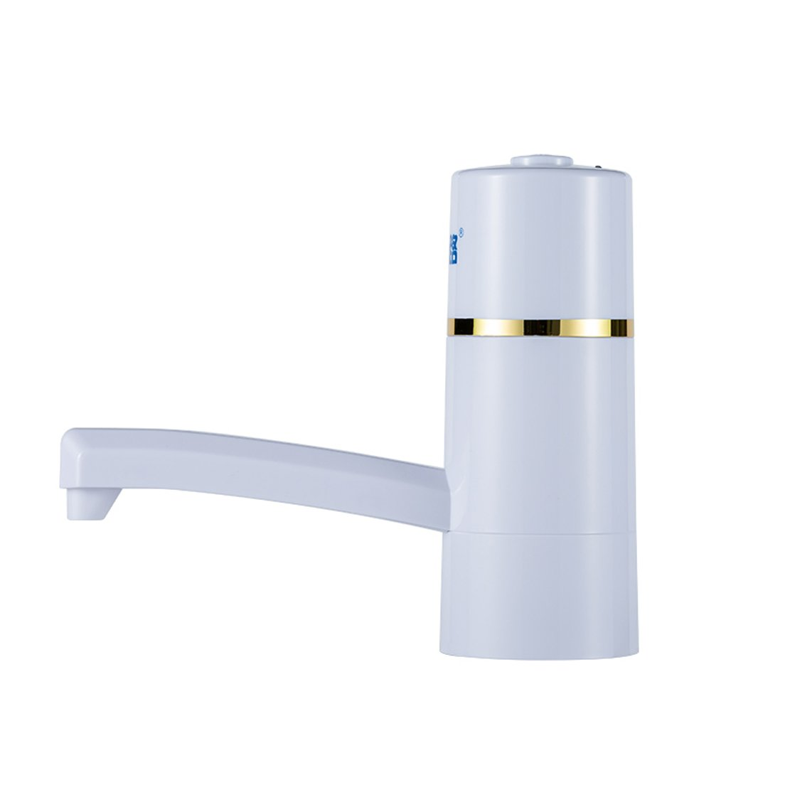 Morhua Wireless Auto Electric Gallon Bottled Drinking Water Pump Dispenser Switch, Automatic Electric Water Drinking Portable Button Pump Dispenser Gallon Bottle Switch 5W and 12V (White)