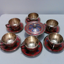 Metalen Emaille Thee Cup Set