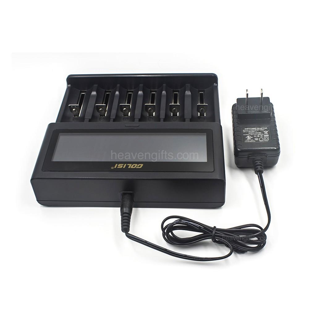 Golisi S6 फास्ट स्मार्ट 18650 rechargeable ली आयन बैटरी चार्जर के साथ एलसीडी स्क्रीन