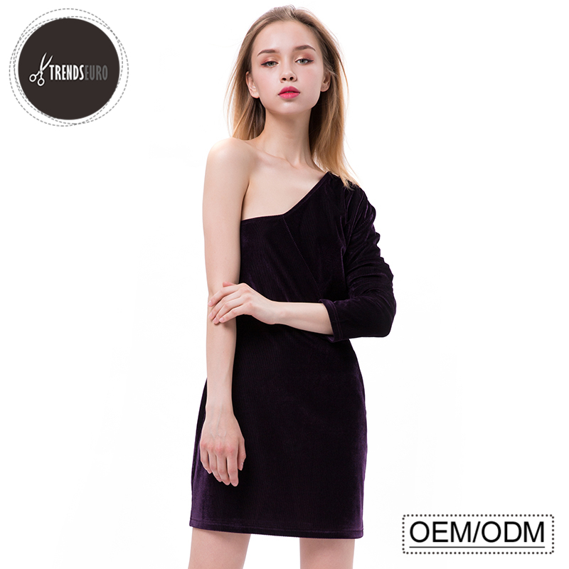 Latest Dress Designs Slim One-shoulder Long Sleeve Party Women Sexy ...