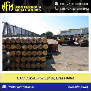 Brass Billet (Cu59.5Pb2.0Zn38) Available for Industrial and Construction Sector