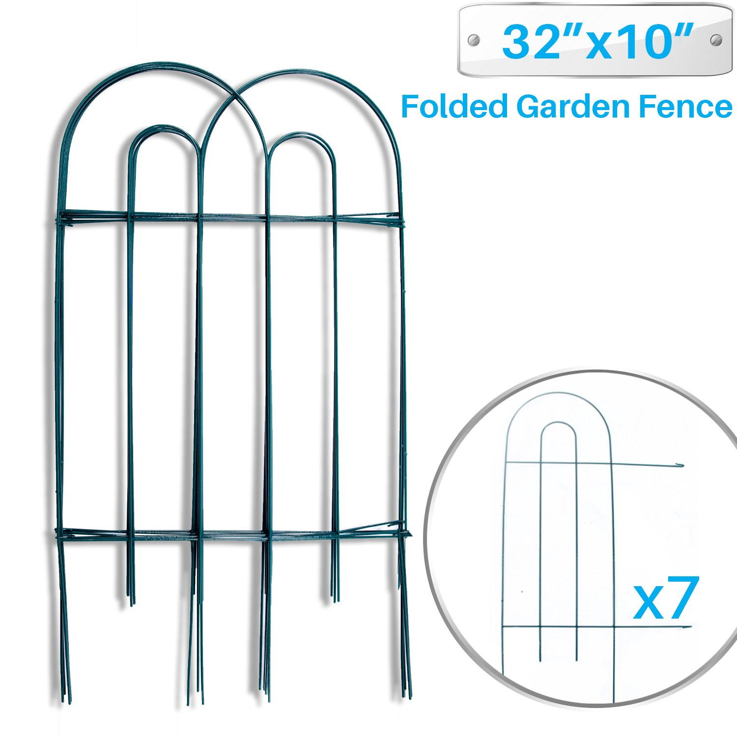 Buy Patio Paradise Garden Border Folding Fence 32 x 10-Inch - 7 ...
