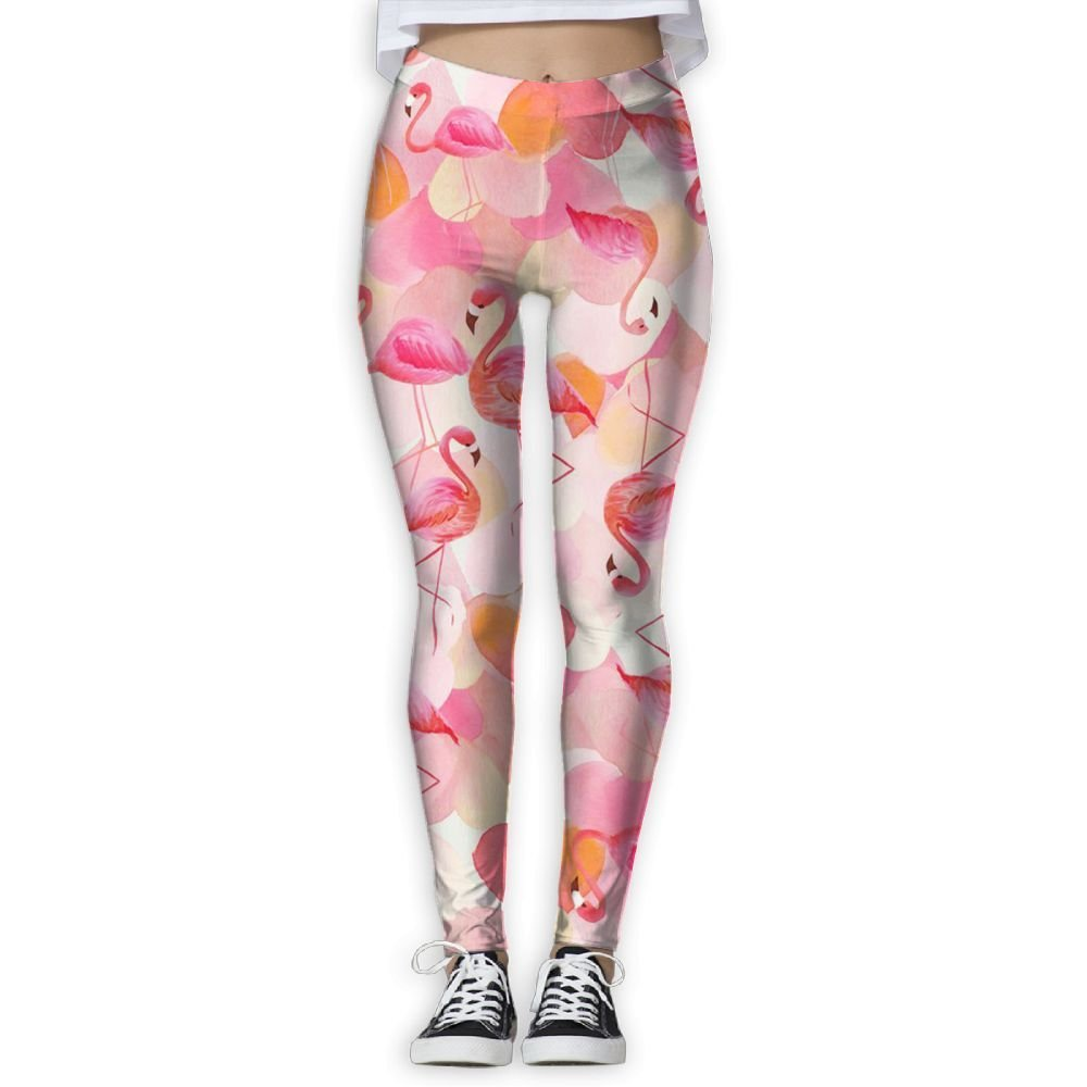 d18d3ca4be7709 Get Quotations · Pink Flamingos Women Stretchy Workout Yoga Leggings  Colorful Patterned Sport Tights Pants!