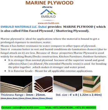 Supplier Of Plywood,Marine Ply Wood,Mdf,White Wood + 971 55 4863025 Dubai -  Buy Plywoods - Marine Plywood/ Film Face Plywood/ Commercial Plywood In