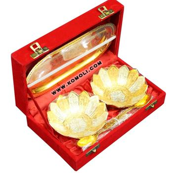 Golden Silver Plated Return Gifts Indian Wedding Gift Ideas Bowl