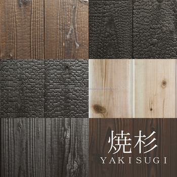 Yakisugi Shou Sugi Ban Siding Outer Wall Material Made