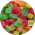 Dehydrated pineapple dice mixed color 8-10mm , sticks mixed color, Slices, Core coin