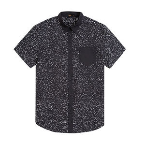 Dongguan Shirt Manufacturer OEM Men Short sleeve Dot Printed Thomas Collar Shirt
