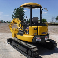 2017 4 Ton used/secondhand japanese komatsu PC40MR mini crawler excavator without cabin