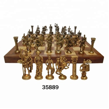 Antique Wooden Chess Board With Indian Brass Chess Pieces Set - Buy Antique  Wooden Chess Board With Indian Brass Chess Pieces Set,Decorative Chess