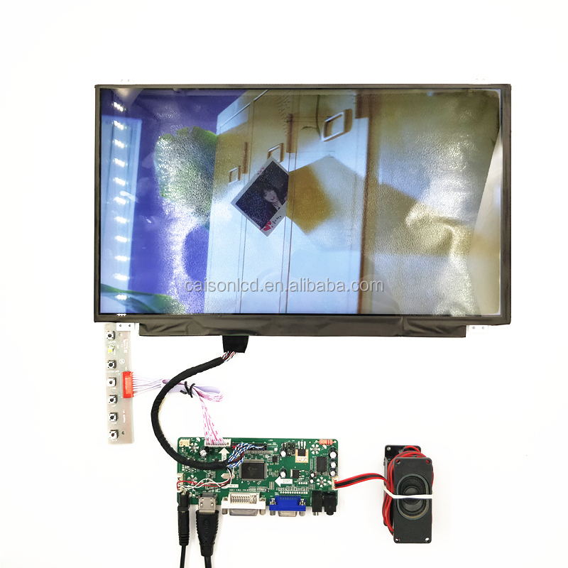 lcd controller board support HDMI+VGA +DVI+AUDIO driver 15.6 inch LCD kits with 1920*1080,300 cd
