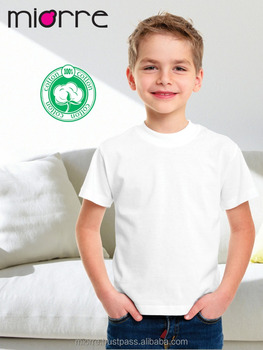 36b8d0b2a Miorre OEM Kid's Boy Classic Short Sleeve White Plain T-Shirt Singlet %100  Cotton