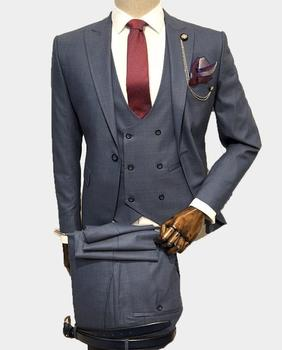 High Quality Italy Suits Man Slim Fit Suits Wholesale Mens Wedding With Pants & Tie Business Mens Formal Wear