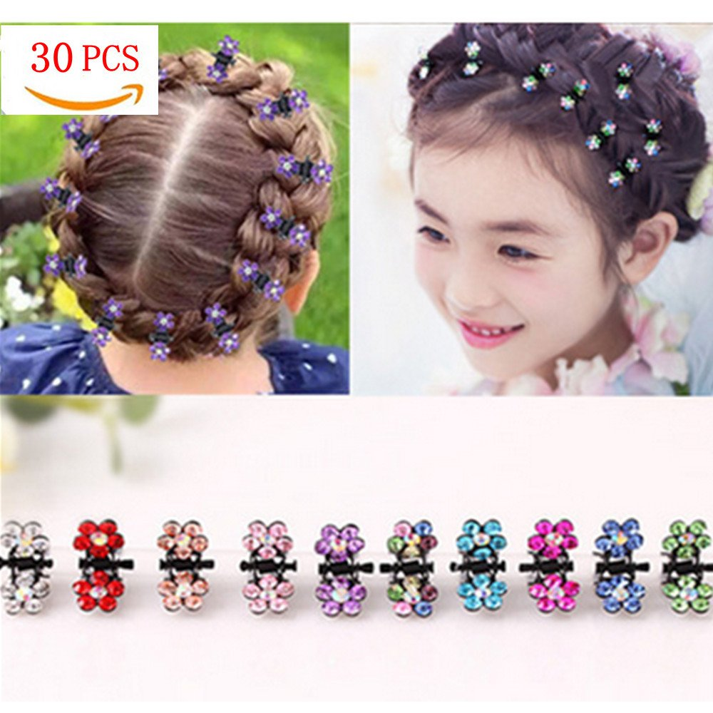 Girls Mini Butterfly Hairpins Hair Clip Claw Claw Barrette Crystal Rhinestone