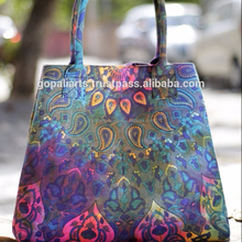 Indiano Ultime Tie Dye Donne Borse Paisley Mandala Shopping Spalla Carry Bag Tote Purse