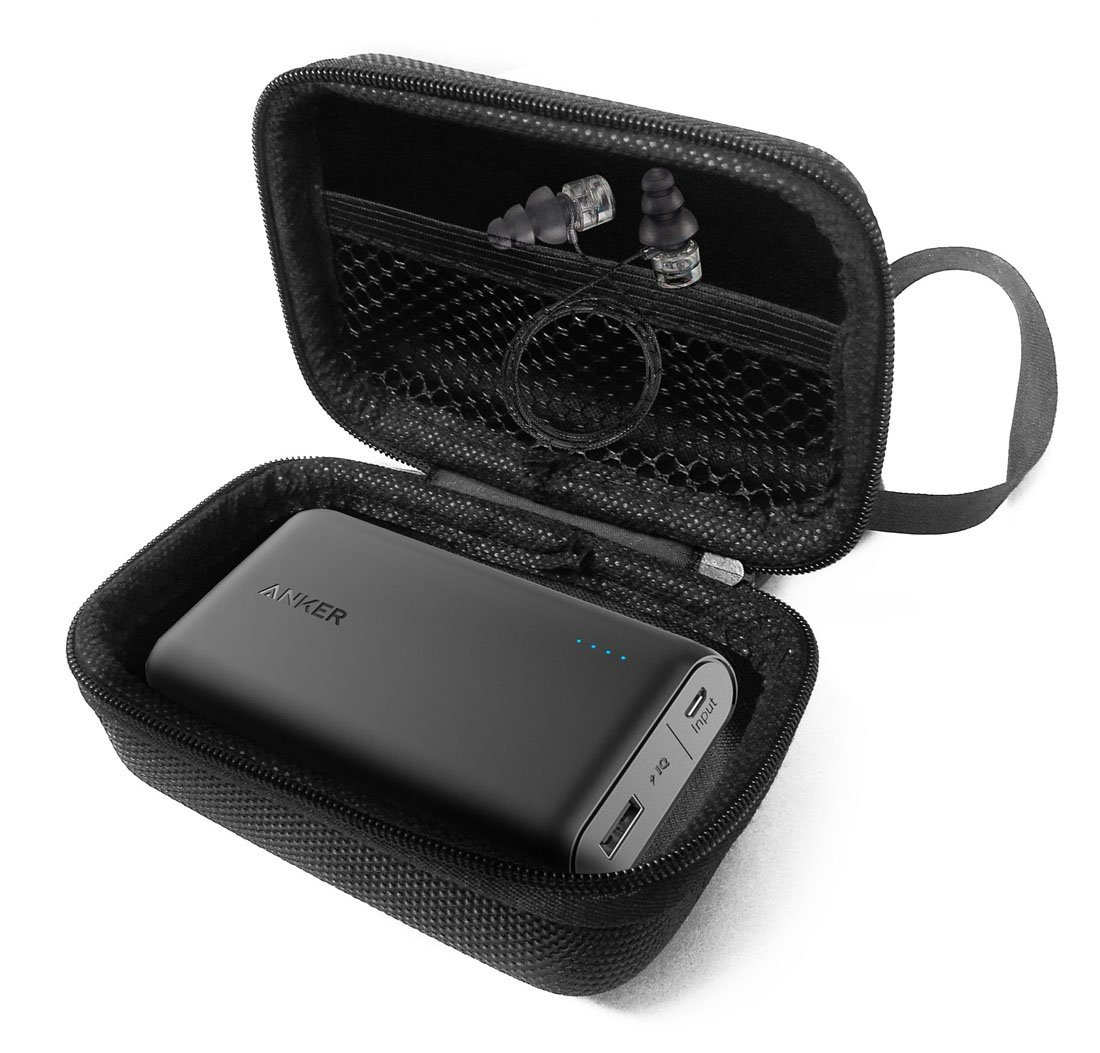 FitSand(TM) Carry Travel Zipper EVA Hard Case for Anker PowerCore 10000, One of the Smallest and Lightest 10000mAh External Batteries