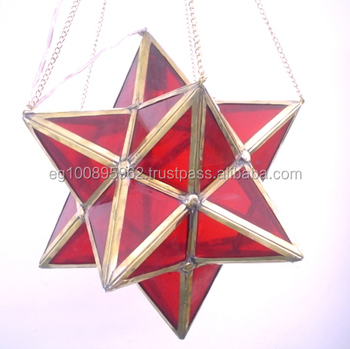 Br247 large moroccan art red glass star pendant lamplantern buy br247 large moroccan art red glass star pendant lamplantern mozeypictures Choice Image