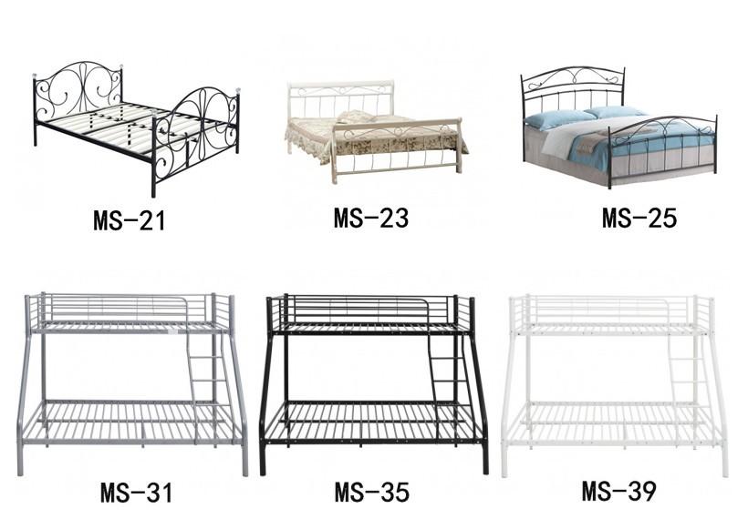 5ee13fcffe43 modern bedroom furniture metal bed wooden legs 4ft double metal bed frame
