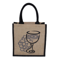 JUTE BAG WITH PVC WINDOW FOR PROMOTIONAL GIFT
