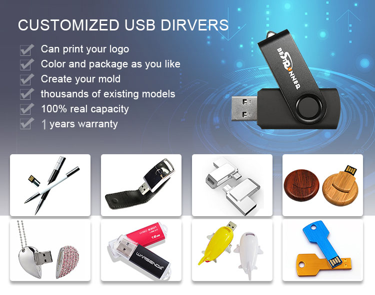 Chain Pen Drive Wholesale Cover Speaker 1Gb 2Gb 8Gb 16Gb Custom Pendrive Custom Bluetooth Wholesale Usb Memory Stick China